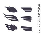 Set Of Template Birds Arms....