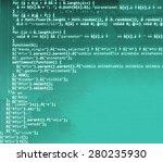 software developer programming...   Shutterstock . vector #280235930