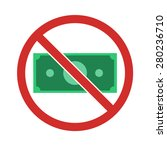 stock vector of no money.... | Shutterstock .eps vector #280236710
