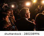 jeb bush speaks to reporters... | Shutterstock . vector #280238996