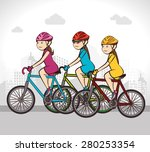 bike design over white... | Shutterstock .eps vector #280253354