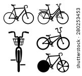 bike design over white... | Shutterstock .eps vector #280253453