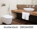 interior of a hotel bathroom | Shutterstock . vector #280266500