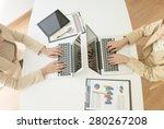 unrecognizable business person...   Shutterstock . vector #280267208