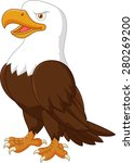 cartoon eagle posing | Shutterstock . vector #280269200