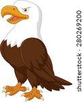 cartoon eagle posing   Shutterstock . vector #280269200