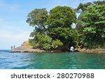 Caribbean Shore Of Costa Rica...