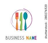 vector design sign restaurant | Shutterstock .eps vector #280276520