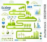 a big set of ecology... | Shutterstock .eps vector #280289408