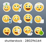 funny and beautiful smiles in... | Shutterstock .eps vector #280296164