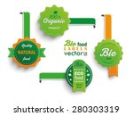 collection of 4 bio labels. eps ... | Shutterstock .eps vector #280303319