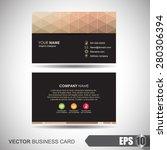 business card  polygonal... | Shutterstock .eps vector #280306394