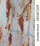 rusty metal wall texture... | Shutterstock . vector #280307339