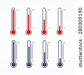 thermometer icon on white... | Shutterstock .eps vector #280309190