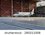 business jet airplane is in... | Shutterstock . vector #280311008