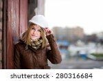 beautiful young girl student... | Shutterstock . vector #280316684