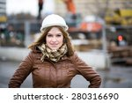 beautiful young girl student... | Shutterstock . vector #280316690