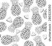 vector pineapple background ... | Shutterstock .eps vector #280323050