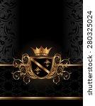 illustration golden ornate... | Shutterstock . vector #280325024