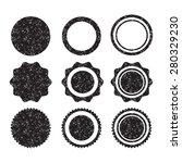grunge stamp set illustration | Shutterstock .eps vector #280329230