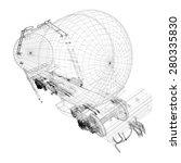 transportation oil tanks by... | Shutterstock . vector #280335830
