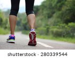 young fitness woman legs... | Shutterstock . vector #280339544