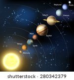 an illustration of the planets... | Shutterstock .eps vector #280342379