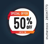 special offer 50  off round... | Shutterstock .eps vector #280347773
