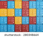 many colorful stacked... | Shutterstock . vector #280348664