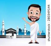 realistic muslim man character... | Shutterstock .eps vector #280349144