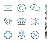 contacts simple  icon set  ...   Shutterstock . vector #280350059