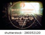 typographic design on blurred... | Shutterstock .eps vector #280352120