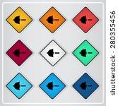 speaker low volume sign icon.... | Shutterstock .eps vector #280355456