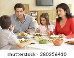 young hispanic family enjoying... | Shutterstock . vector #280356410