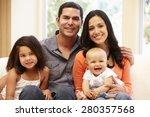 hispanic family at home | Shutterstock . vector #280357568