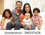 hispanic family at home | Shutterstock . vector #280357628