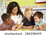 group of elementary age... | Shutterstock . vector #280358459