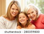 multi generation family portrait   Shutterstock . vector #280359800