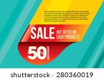 sale shopping background and... | Shutterstock .eps vector #280360019