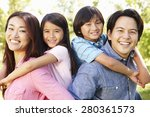 asian family head and shoulders ... | Shutterstock . vector #280361573