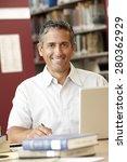 mature student working in... | Shutterstock . vector #280362929