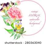 vector vintage floral... | Shutterstock .eps vector #280363040