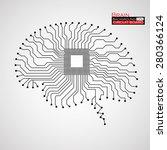 brain. cpu. circuit board.... | Shutterstock .eps vector #280366124