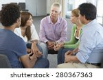 meeting of support group | Shutterstock . vector #280367363