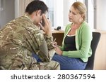 soldier having counselling... | Shutterstock . vector #280367594