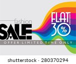 sale shopping background and... | Shutterstock .eps vector #280370294
