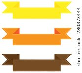 set of colorful ribbons... | Shutterstock .eps vector #280373444