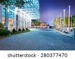 empty floor near modern... | Shutterstock . vector #280377470