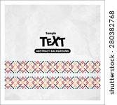 border decoration elements... | Shutterstock .eps vector #280382768