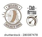 archery logo raster version | Shutterstock . vector #280387478